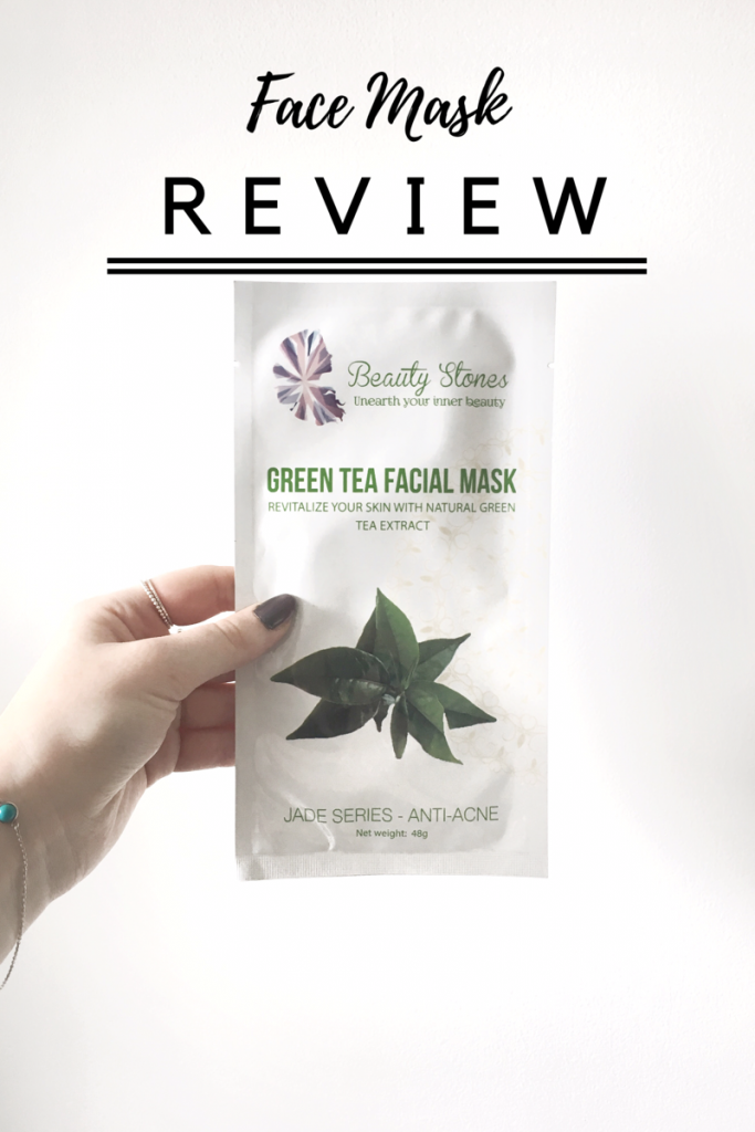 Beauty Stones Green Tea Mask REVIEW