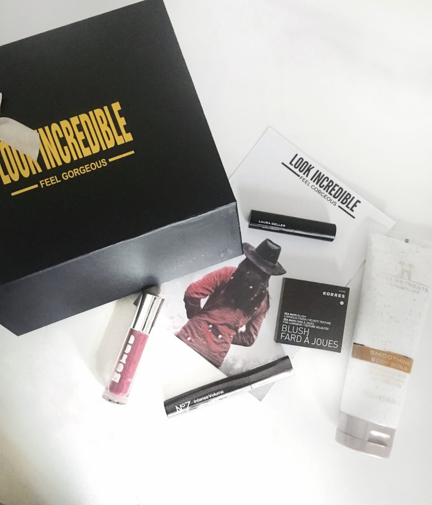 Look Incredible Box December 2016 REVIEW